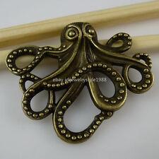 10931 5PCS Octopus Connector Pendant Vintage Antique Style Bronze Tone