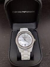 Emporio Armani Ceramic AR1426 Wrist Watch for Women, White