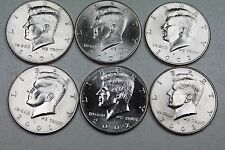 2001 2002 2003  P & D Kennedy Half Dollar Uncirculated Set from Mint Rolls