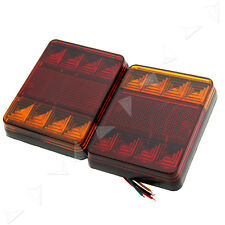 2x 12V 8LED CARAVAN TRUCK TRAILER STOP REAR TAIL BRAKE LIGHTS INDICATOR LAMP