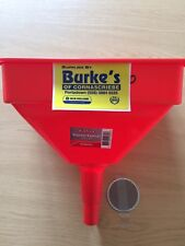 LARGE PLASTIC  HEAVY DUTY FUNNEL 4.5 LITRE WITH BRASS FILTER FUEL DIESEL, OIL