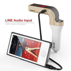 Wireless Car Kit Handsfree FM Transmitter Radio MP3 Player USB Car Charger & Aux