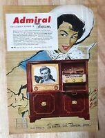 Original Print Ad 1951 ADMIRAL Television 17 inch Screen