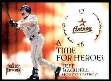 2001 FLEER PREMIUM TIME FOR HEROES JEFF BAGWELL HOUSTON ASTROS #4 OF 20 TH