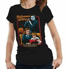 Halloween Safety Tshirt Fitted Ladies - Funny, Parody, Michael Myers, Slasher
