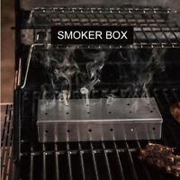 Edelstahl Fleisch Räuchergrill Raucher Box für BBQ Holzhackschnitzel