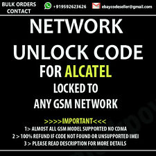 ALCATEL PIXI 9002x UNLOCK CODE PERMANENT NETWORK UNLOCK CODE