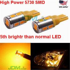 JDM ASTAR 2x T10 Wegde Amber 5730 10-SMD Yellow LED Lights Bulb 194 168 2825 W5W