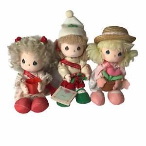 "Precious Moments Valentines Christmas Dolls Cheri Missy Love Grows 10"" Lot of 3"