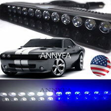 12 LED Emergency Warning Strobe Light Bar Car Visor Dash Deck Hazard Flashing US