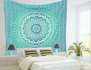 Indian Mandala Bohemian Hippie Tapestry Wall Hanging Bedspreads Cotton Tapestry
