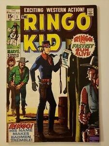 THE RINGO KID #1 VF-, Joe Maneely- c., Williamson & Fred Kita a, Marvel Jan 1970
