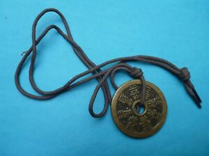 Lucky Chinese Feng Shui Coin Necklace. Wealth Great Fortune Protection Luck.