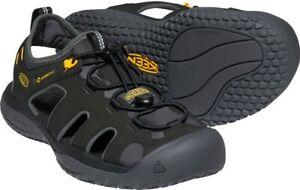 Keen Men's Solr Sandal Shoes, Black/Gold - 1022246