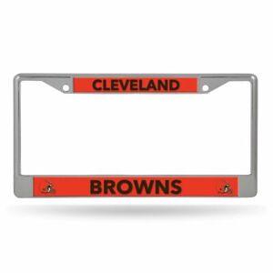 Cleveland Browns Lightweight Chrome Metal License Plate Frame