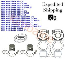 1998-1999 Arctic Cat 600 Carb & EFI ZR ZL PS 78 mm STD Bore SPI Pistons Gaskets