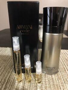 Armani Code Absolu EDP 5ml Men's Travel Spray Free/Fast Shipping