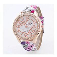 Luxury Rose Gold Floral Heart Watch Love Time Funky Present Flower UK Warranty