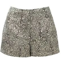 FOREVER NEW Women's Designer Metallic Tammy jacquard pants shorts size 8 NWT