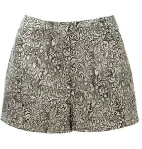 FOREVER NEW Women's Designer Metallic Tammy jacquard pants shorts size 8 NWT