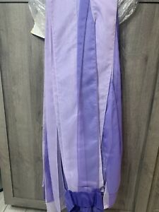 """JC Penney Home Collection 39"""" x 82"""" Shades of Purple Strip Sheer Drapes Set of 4"""