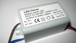 LED Trafo 350mA 4W EA5F-350  Konstant Strom Netzteil Driver Treiber für 1-4 x 1W