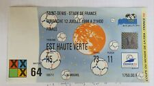 Ticket Coupe monde World Cup 1998 Brésil - France match 64 finale