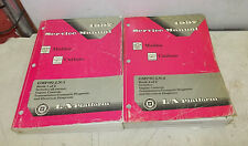 1997 MALIBU CUTLASS SERVICE MANUAL BOOK 1&2 INCLUDES ENGINE CONTROLS TRANS
