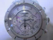 CHANEL MEN'S AUTOMATIC SAPPHIRE ALL CERAMIC DIAMOND SWISS J12 H2009