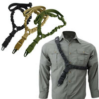 Tactical Hunting One Single Point Adjustable Bungee Rifle Gun Sling Strap Acces
