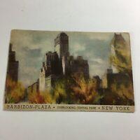 Vintage Postcard Barbizon Plaza Hotel New York  R2