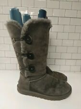 UGG Bailey Button Triplet gray Classic Tall Boot 8