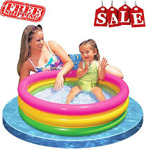 Kids Inflatable Swimming Pool Baby Toddler Infant Swim Tube Float Water Plastic