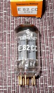 Siemens E82CC 'long plates' Verstärkerröhre mit Goldkontakten  NEU / NOS in OVP