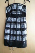 Next Strapless Black Grey Check Party Dress 10