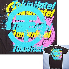 TOKIO HOTEL! PASTEL LOGO BLACK T-SHIRT YOUTH MEDIUM NEW