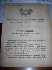REGIO DECRETO 1876 DERIVAZIONI D'ACQUA MONTELEONE SABINO SERRAVALLE APECCHIO