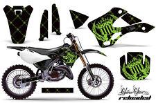 Moto Tout-Terrain Décalque Graphique Kit Drapé pour Kawasaki KX125 KX250