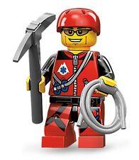 Lego minifig series 11 Mountain Climber + rock climbing shoes harness gear shirt
