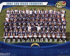 2007 SAN DIEGO CHARGERS NFL FOOTBALL 8X10 TEAM PHOTO