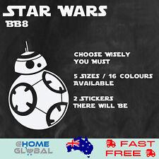Star Wars BB8 Logo Sticker Decal Car Wall Bike Helmet