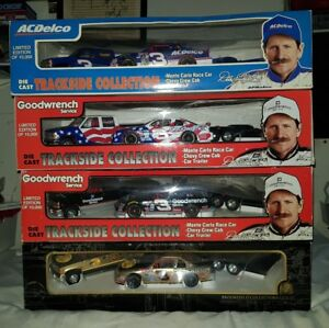 LOT (4) Dale Earnhardt Brookfield Dually Show Trailer Trackside Collection 1/24