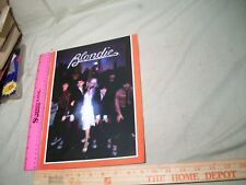 Blondie Souvenir Book . 1979 1970's The Seventies Rock Music