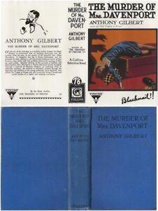 Anthony Gilbert  THE MURDER OF MRS. DAVENPORT  3rd w/fdj 1929 Collins Mystery
