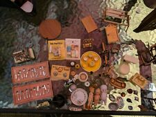 LOT of Vintage Dollhouse Furniture Kitchen & Accessories Germany, Occupied Japan