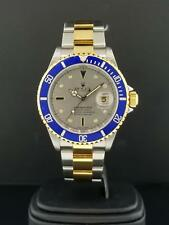 "Rolex Submariner 16613 T 40mm 18k Yellow Gold & Steel Factory Diamond Dial ""F"""
