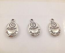 6pcs Tibetan Silver ellipse Charm Pendant Bead Jewellery Making 15*11mm