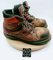 Dr Martens Air Wair Mens Brown Steel Toe Lace Up Work Boots Size 11 M #AW140