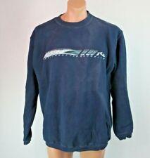 RUSTY VTG 90s logo Surf Skate skateboard Navy Blue Sweatshirt Grunge Sz L