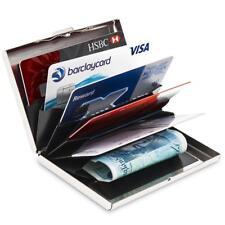 Metal Alumínio Slim Anti-Scan titular do cartão de crédito bloqueando Fina Case Carteira RF